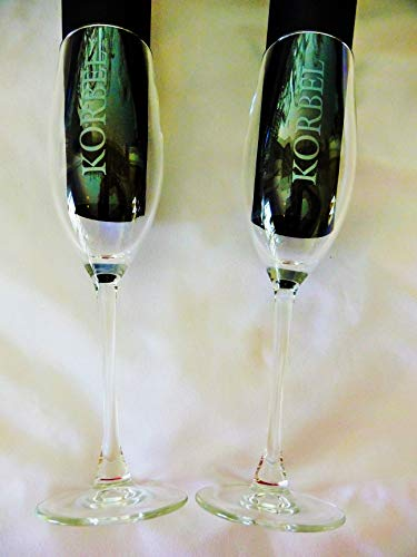 Korbel Champagne Flute/Glass ~ Set of Two ()
