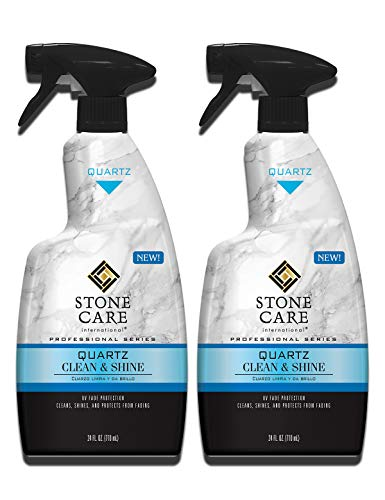 Stone Care International Quartz Cleaner and Polish - 24 Ounce (2 Pack) - Clean & Shine Your Quartz Countertops Islands and Stone Surfaces with UV Protection