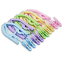 10 Pcs Travel Hangers with Clips - Portable Folding Clothes Hangers Travel Accessories Foldable Clothes Drying Rack for Travel (10 Clips)