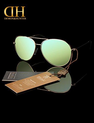 Demon 8009 Anti Mujer Polarizadas Sol Protección Ultra Verde para DZA8037 amp;Hunter Hombre Alergico ligero UV400 Gafas 100 de rqTxrCnw8