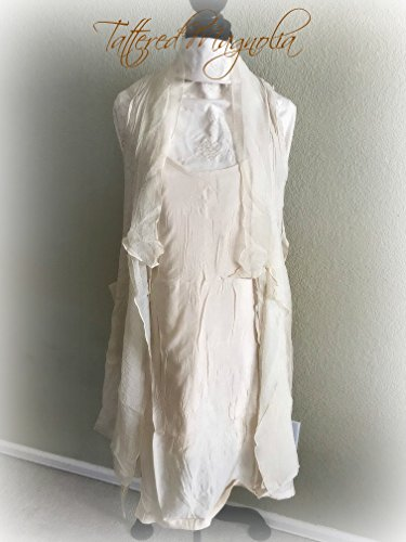 Bohemian Linen Dress & Jacket 2 pc Set Asymmetrical by Tattered Magnolia