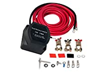 Dual Battery Isolator Kit - 12 Volt 140 Amp Voltage Sensitive Relay - Complete VSR Double Battery Automatic Charger - Fits Trucks, SUV, ATV, UTV Boats and more - Safe, Water and Vibration Resistant