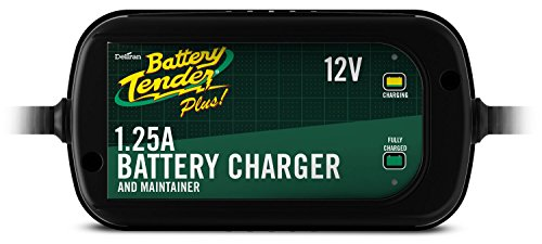 (Battery Tender 022-0185G-dl-wh Black 12 Volt 1.25 Amp Plus Battery Charger/Maintainer)