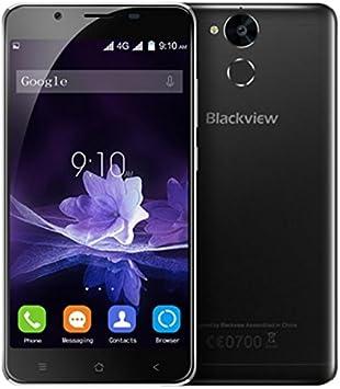 Blackview P2-5,5 Pulgadas Android 6.0 4G Smartphone 4 GB RAM 64 GB ROM Octa Core 1.5GHz 8.0MP + 13.0MP Cámaras Huella Dactilar Batería de 6000mAh Cuerpo de Metal: Amazon.es: Electrónica