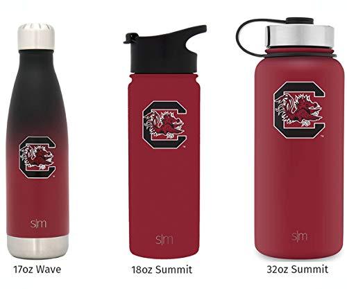 Simple Modern 18oz Summit Water Bottle - South Carolina Gamecocks Vacuum Insulated 18/8 Stainless Steel Travel Mug - South (South Carolina Coffee Mug)