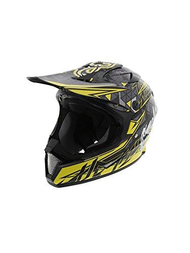 (Cyclone ATV MX Dirt Bike Off-Road Helmet DOT/ECE Approved - Yellow - Medium)