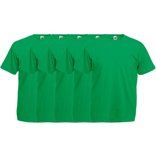 20 T Bouteille 5 shirt Vert F140 Rond T Original Lot Col The Fruit 15 5x De Valueweight Of Loom 10 xgHpwZq