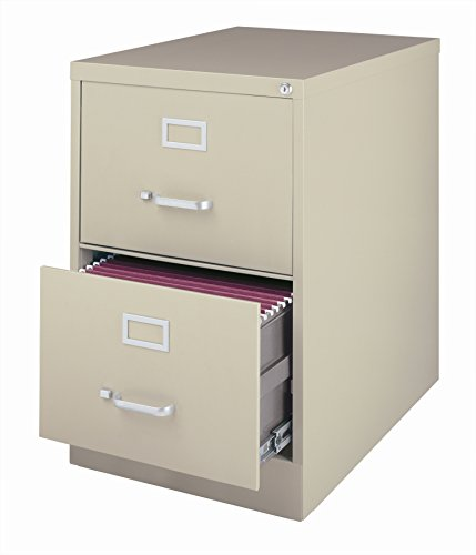 Office Dimensions Commercial 2 Drawer Legal Width Vertical File, 26.5-Inch Deep, Putty