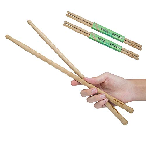 American Classic 5A Drum Sticks, 2 Pair, Custom General Non-Slip Grip Drumsticks - Ideal for cajon box Cardio Fitness, Pound Fit, Aerobic & Workout Exercises ()