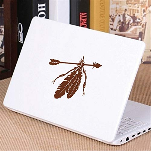 Arrows Feathers Car Laptop Sticker Native American Vinyl Wall Decal Sticker Wall Art Decor Brown 10cm