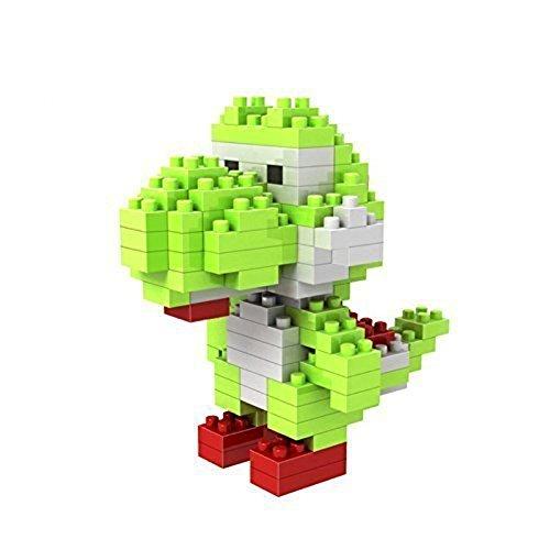 Attoblock New Diamond microblock Super Mario Cartoon Toys Figure 'YOSHI' Parent-child Games Building (Yoshi Outfit)