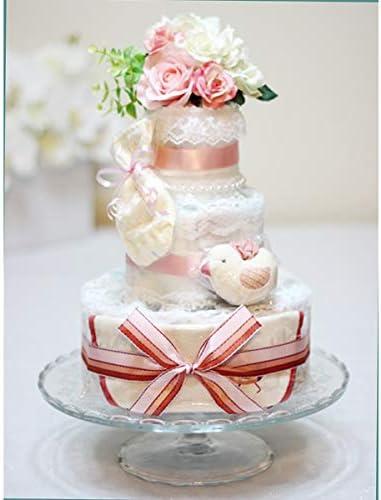 Angel Cake ダイパーケーキ おむつケーキ ビセラタワー ピンクリボン