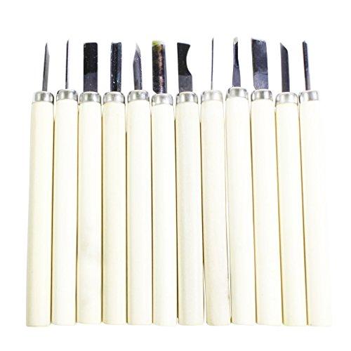 12 teiliges Holz Schnitzmesser Schnitzen Handwerkzeug Set von Kurtzy TM