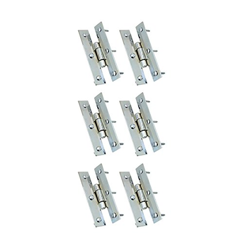 Cabinet Chrome Hinges (Cabinet H Hinge Chrome Flush Finish 3 Inch Height Pack of 6 Renovator's Supply)
