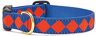 product image for Up Country Blue Orange Diamond Dog Collar - Small (Wide)