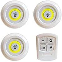 Spot LED circular battery-powered and remote control 3 pieces