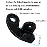 2 Sets Bicycle Trailer Hitch Coupler Bike Coupler
