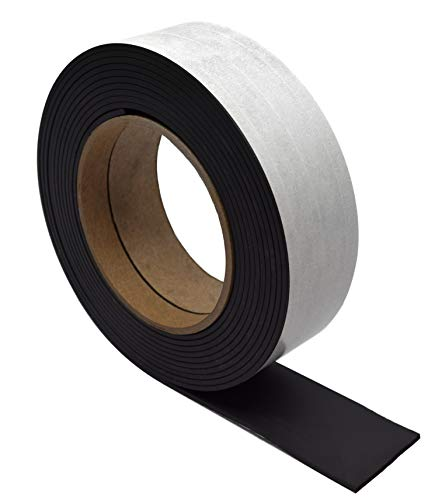 Flexible, Adhesive Magnetic Tape, 12ft Roll - 1.5