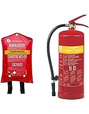 Juego de extintores de Espuma de 3 litros de Clase de Fuego AB + Manta extintora
