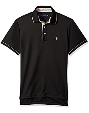 Men's Short Sleeve Classic Fit Solid Poly Polo Shirt
