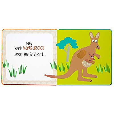 C.R. Gibson Zoo Animals Board Book for Children, 7 x 7 x 0.8 inches, 1 Piece : Baby