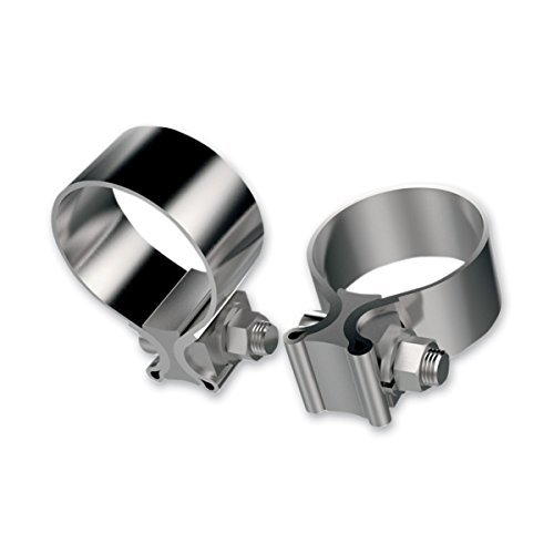 Stainless Steel Motorcycle Exhaust - Khrome Werks Stainless Steel Muffler Clamps 203030