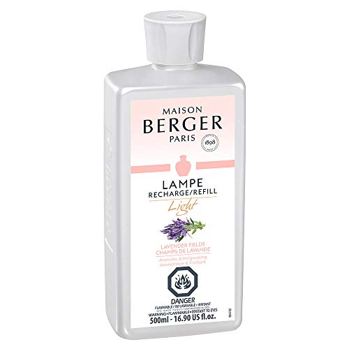 Light Lavender Field - Lampe Berger Fragrance Refill for Home Fragrance Oil Diffuser - 16.9 Fluid Ounces - 500 milliliters