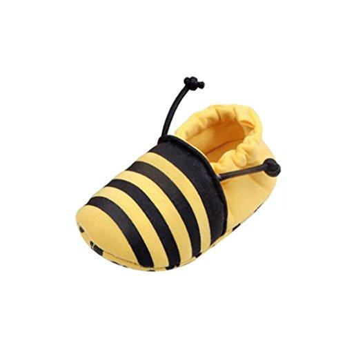 Ouneed® Krabbel schuhe ,Schön niedlich Kleinkind Zuerst Wanderer Baby Schuhe Runden Zehe Wohnungen Weich Hausschuhe cartoon Schuhe Gelb
