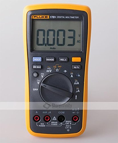 FLUKE 17B+ Digital Multimeter w/ Temperature & Frequency (BATTERIES NOT INCLUDED)