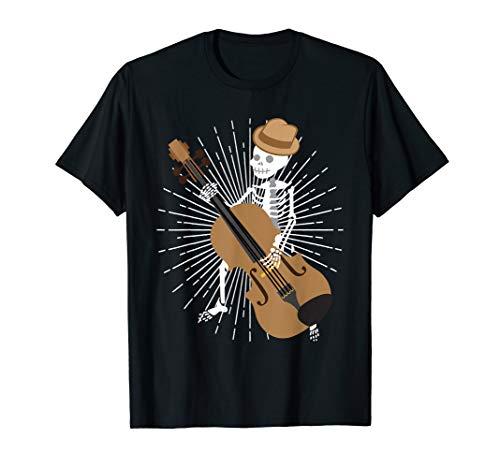 Skeleton Bass Guitar T-shirt - Bass Guitar Player