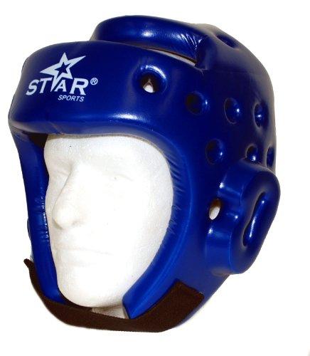 Star Sports Quality New Taekwondo TKD Kickboxing Helmet Head Gear Guard Protector (Blue, XL)