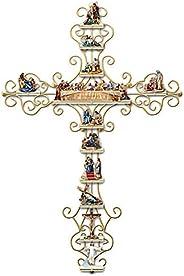Xuecai Adesivo de parede de cruz A Vida de Cristo, coleção personalizada mural, decalque de parede de PVC para