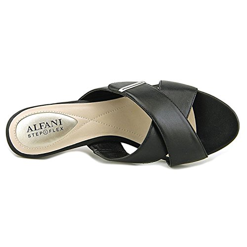 Mule Open Sandals Toe Alfani Larrk Black Womens Casual aq6TEXOw