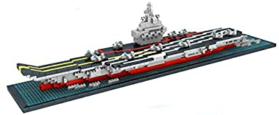 Otulet Warship Series Titanic Liaoning Aircraft Carrier Nano Building Blocks Diamond Building DIY Set Parent-child Games