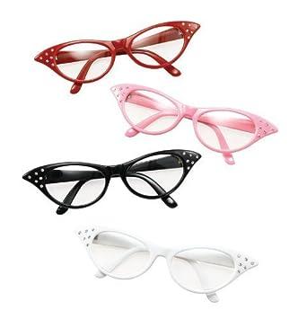 7301afa79d35 Red Glasses Grease Pink Ladies 1950S Rock N Roll Fancy Dress  Amazon ...