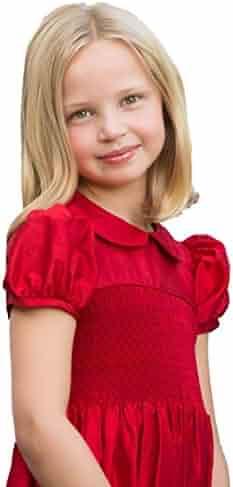 53220551d70 Strasburg Children Red Dresses for Little Girl Smocked Dress Red Flower Girl  Christmas Gown Pageant