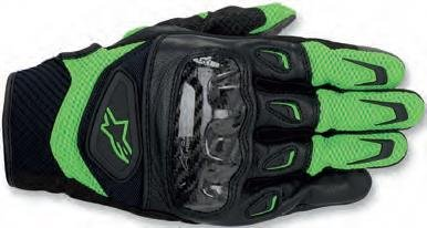 Green Motorcycle Gloves - 9