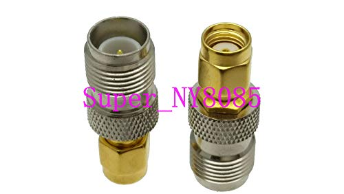 Gimax 1pce RP-TNC female plug to RP-SMA male jack center RF coaxial adapter connector (Tnc Chassis Female)
