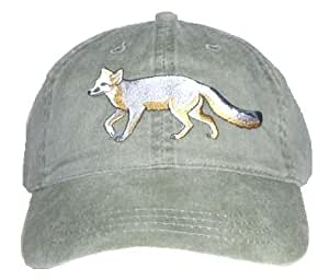 Gray Fox bordado algodón Cap
