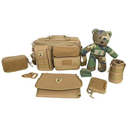 Tactical Baby Gear Full Load Out 2 0 Tactical Diaper Bag Set  Coyote Brown