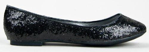Breckelles Cherry-04 Metallglitter Slip Om Grundläggande Klassiska Balett Mattsvart