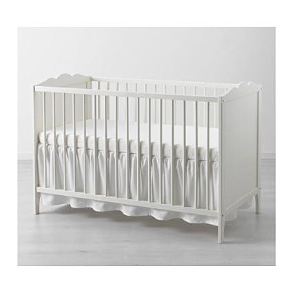 Ikea len Faldón Cuna, Lino, Blanco, 120x60x3 cm