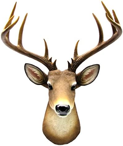 Wall Mount Mule Deer Shoulder Bust/Fake Taxidermy Buck Head Man Cave/Cabin Decor