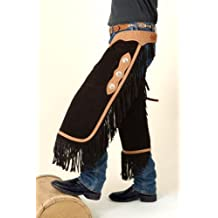 Tough 1 Suede Leather Silver Concho Chinks