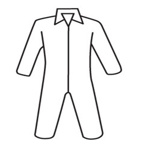 Coated Polypropylene Coveralls (West Chester U1100 XXX2XL HVY.WGT.SBP Basic Coverall, 5XL, White)
