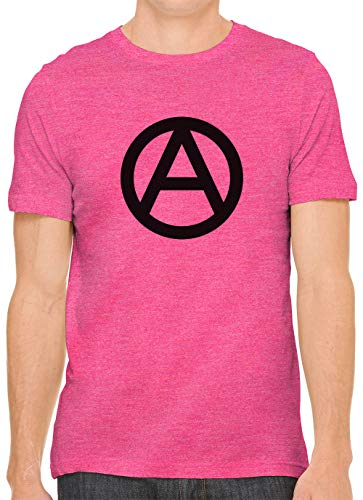 Minimal Anarchy Symbol Cotton Crewneck Unisex Mens Fitted T-Shirt Berry XL