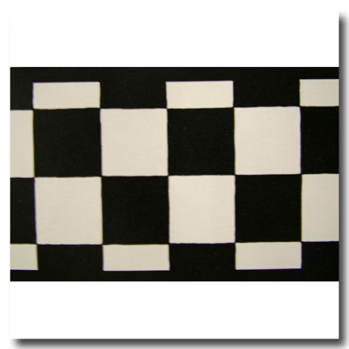 3.5 Inch Wide Black & White Check Checkered NASCAR Cars Wallpaper Border Black And White Checkered Border
