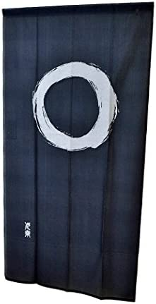 Fukui Textile Factory Noren Curtain Tapestry Enso Circle Long Type Japan Blue