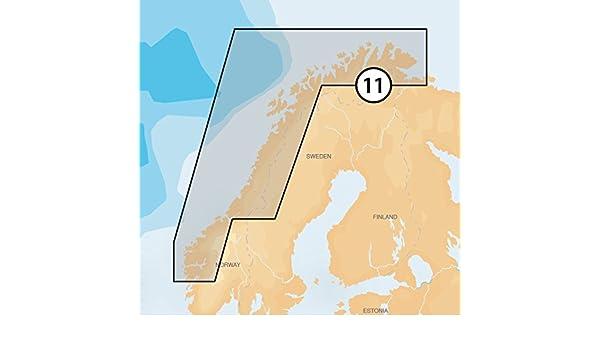 Navionics Platinum Plus 11P Plus Norway North-West Marine Charts on SD/MSD: Amazon.es: Electrónica