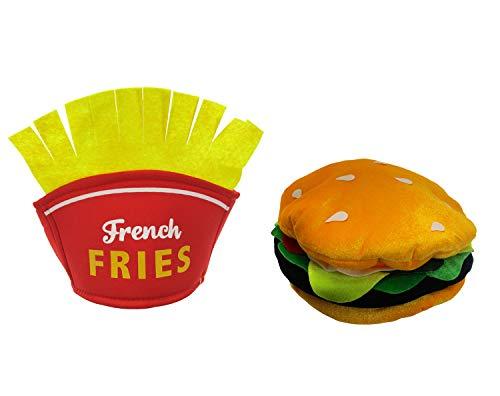 Hamburger Cheeseburger French Fry Fries Hat Vendor Fast Food Meal Costume Set -